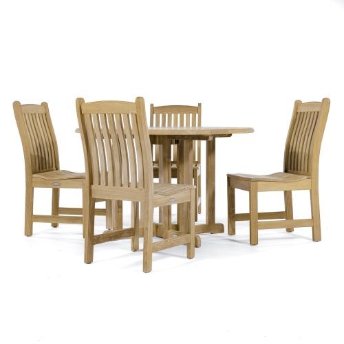 [barbuda 4ft gateleg round teak table
